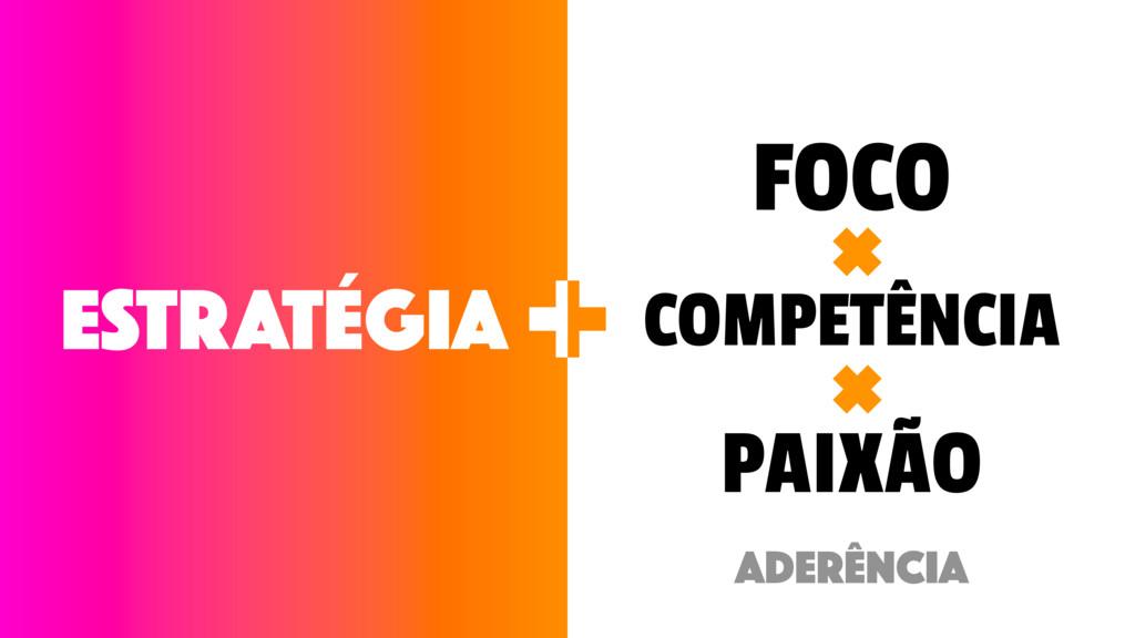 ESTRATÉGIA FOCO COMPETÊNCIA PAIXÃO + + ADERÊNCIA