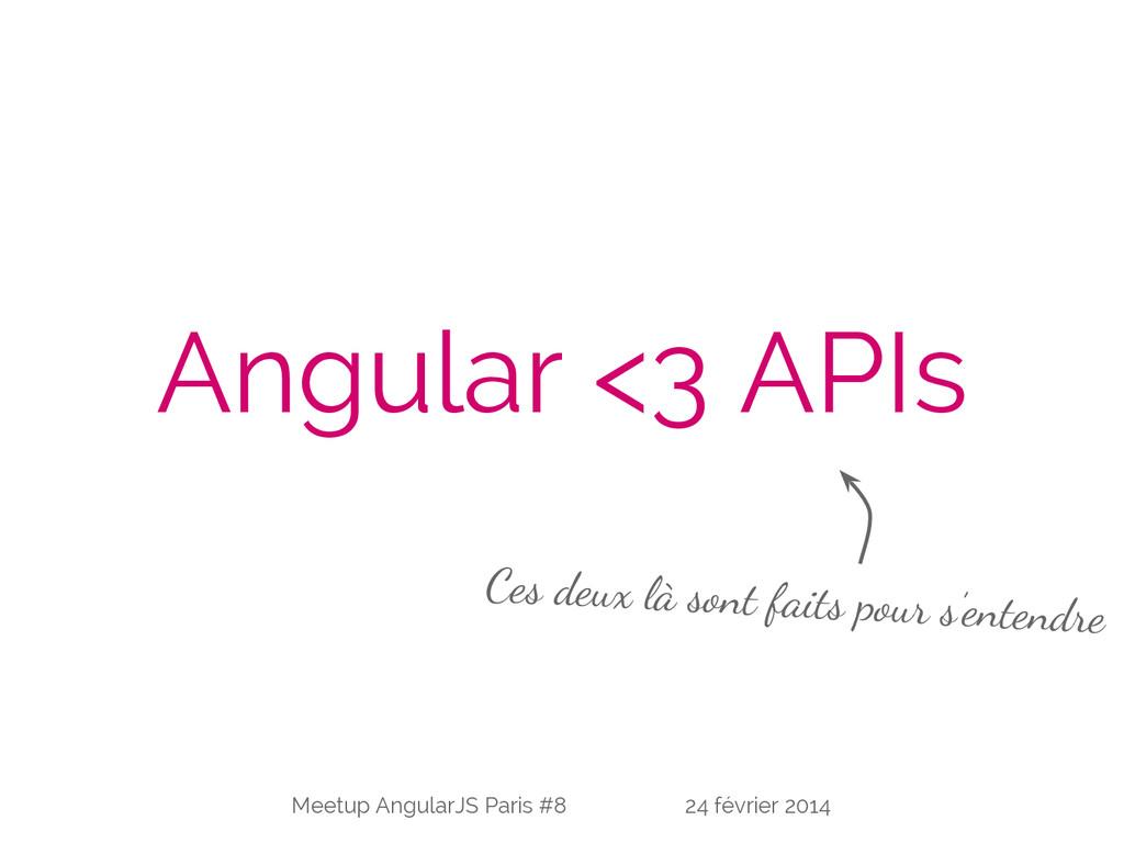 Angular <3 APIs Ces deux là sont faits pour s'e...