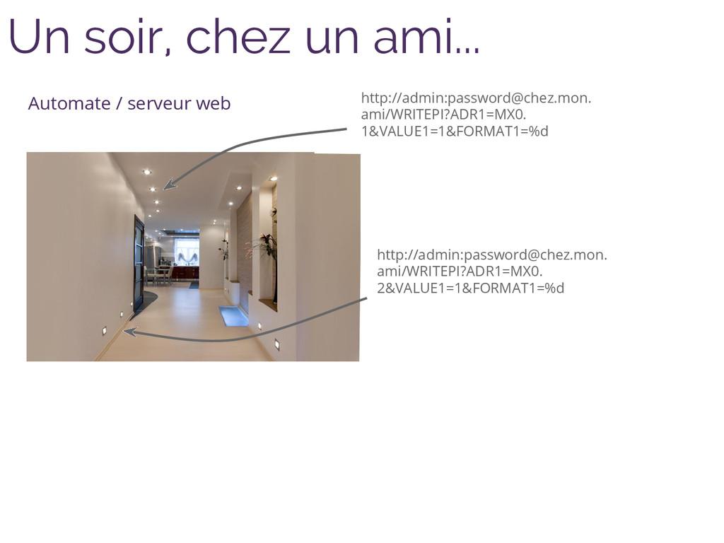 Un soir, chez un ami... Automate / serveur web ...