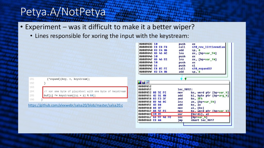 Petya.A/NotPetya • Experiment – was it difficul...