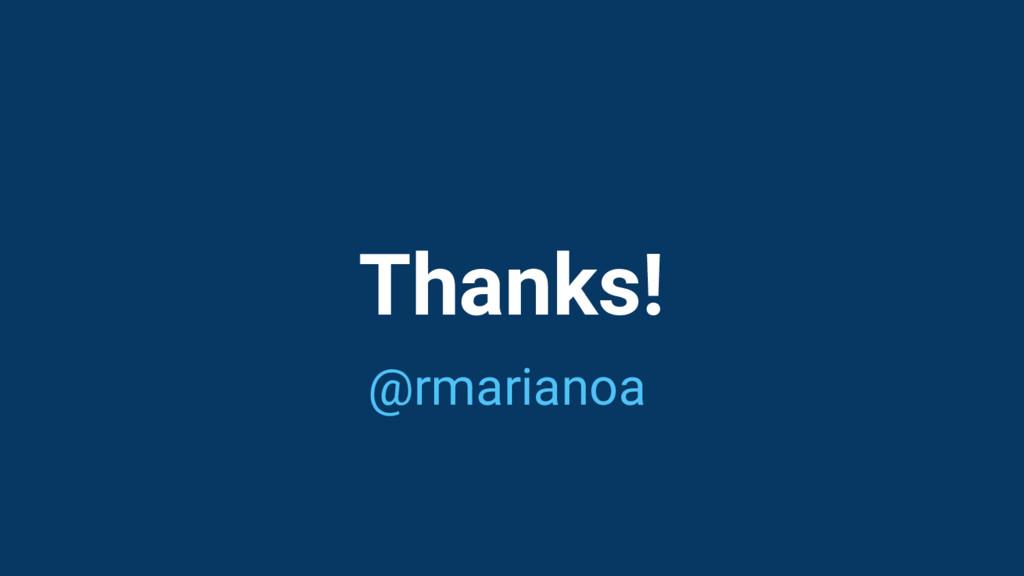 Thanks! @rmarianoa