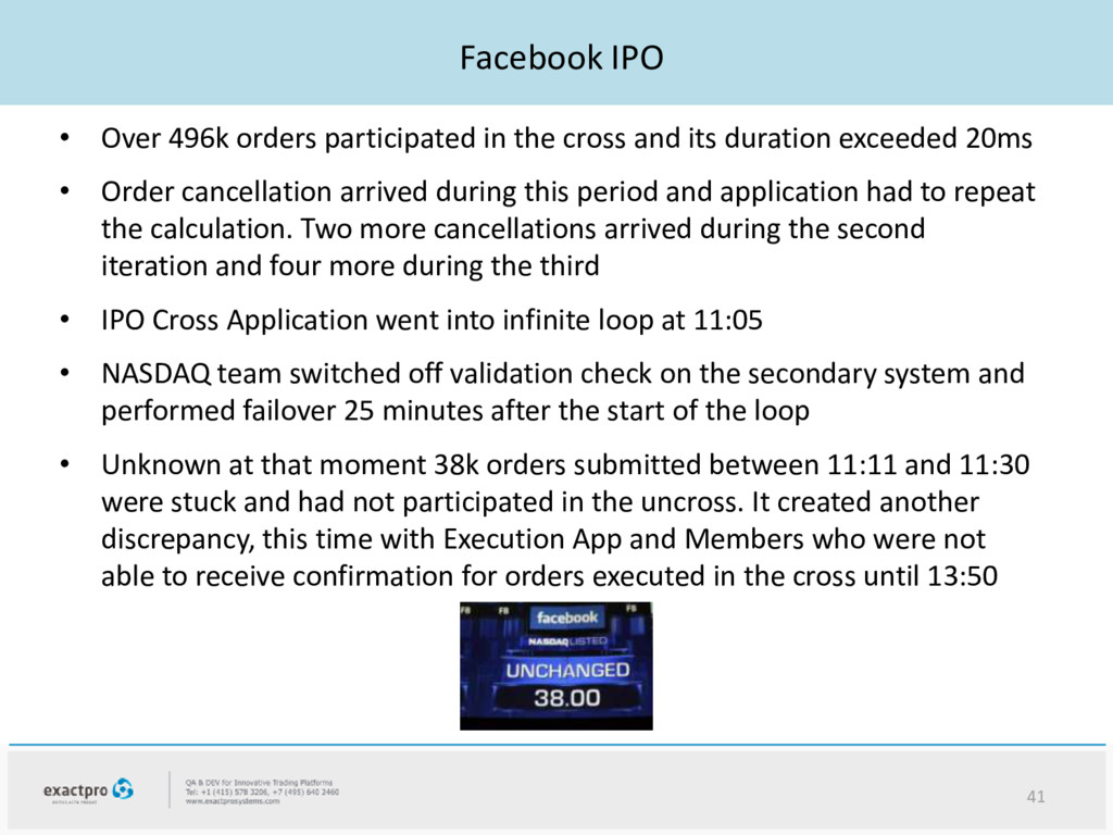 Facebook IPO • Over 496k orders participated in...