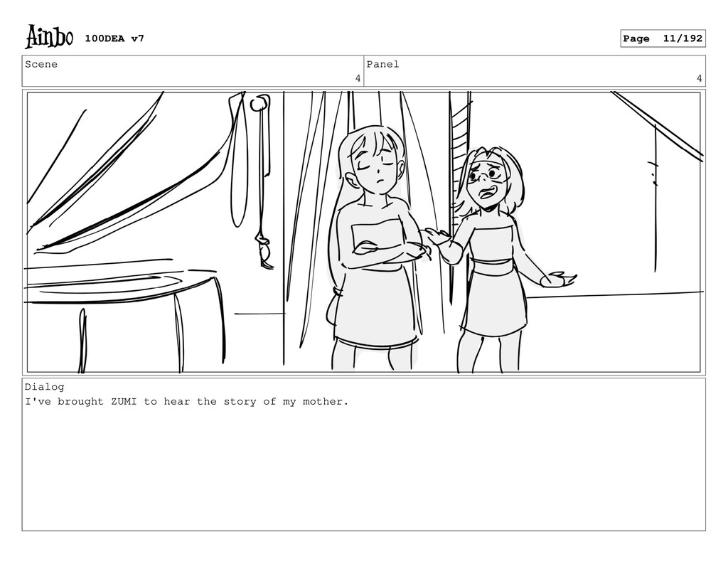 Scene 4 Panel 4 Dialog I've brought ZUMI to hea...