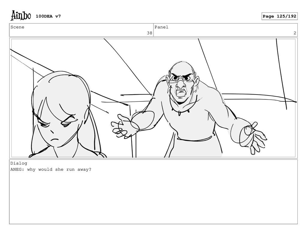 Scene 38 Panel 2 Dialog ANEG: why would she run...