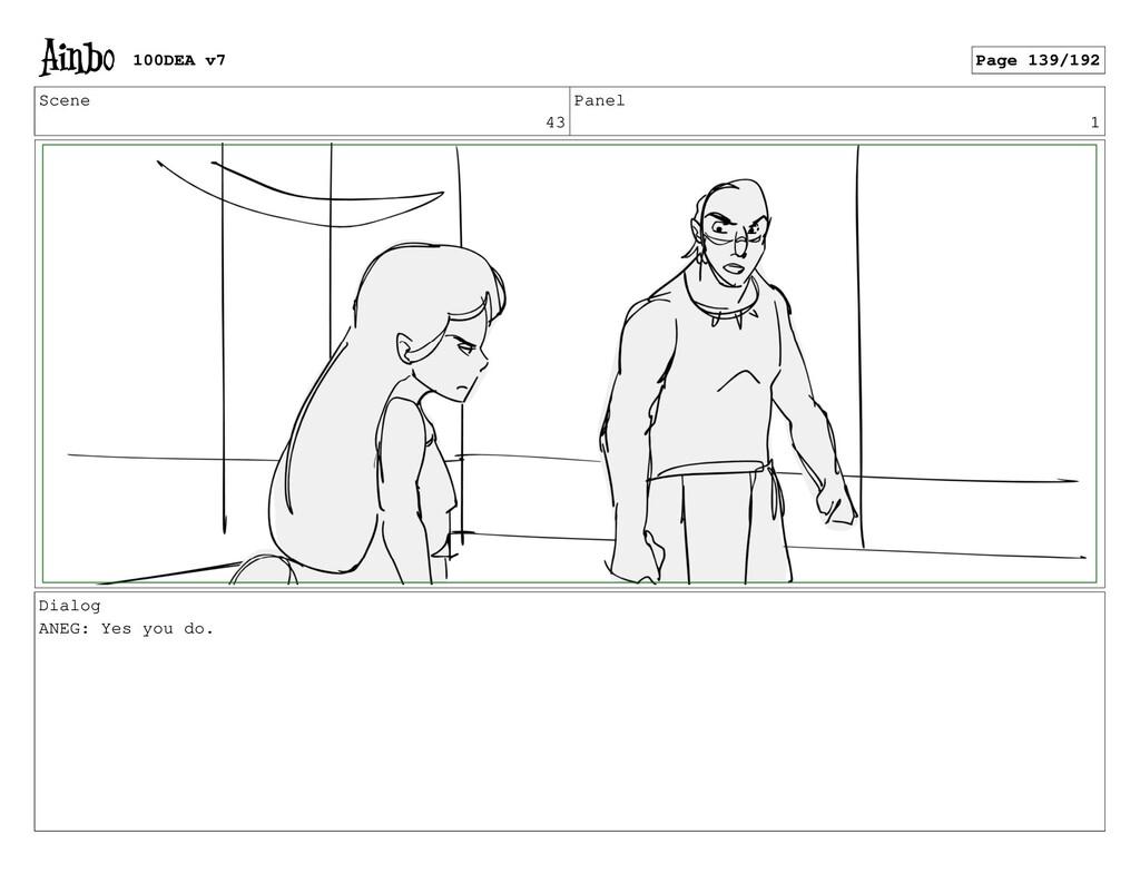 Scene 43 Panel 1 Dialog ANEG: Yes you do. 100DE...