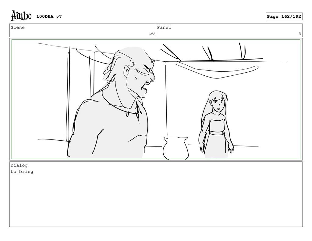 Scene 50 Panel 4 Dialog to bring 100DEA v7 Page...