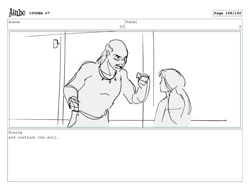 Scene 53 Panel 2 Dialog and confront the evil. ...