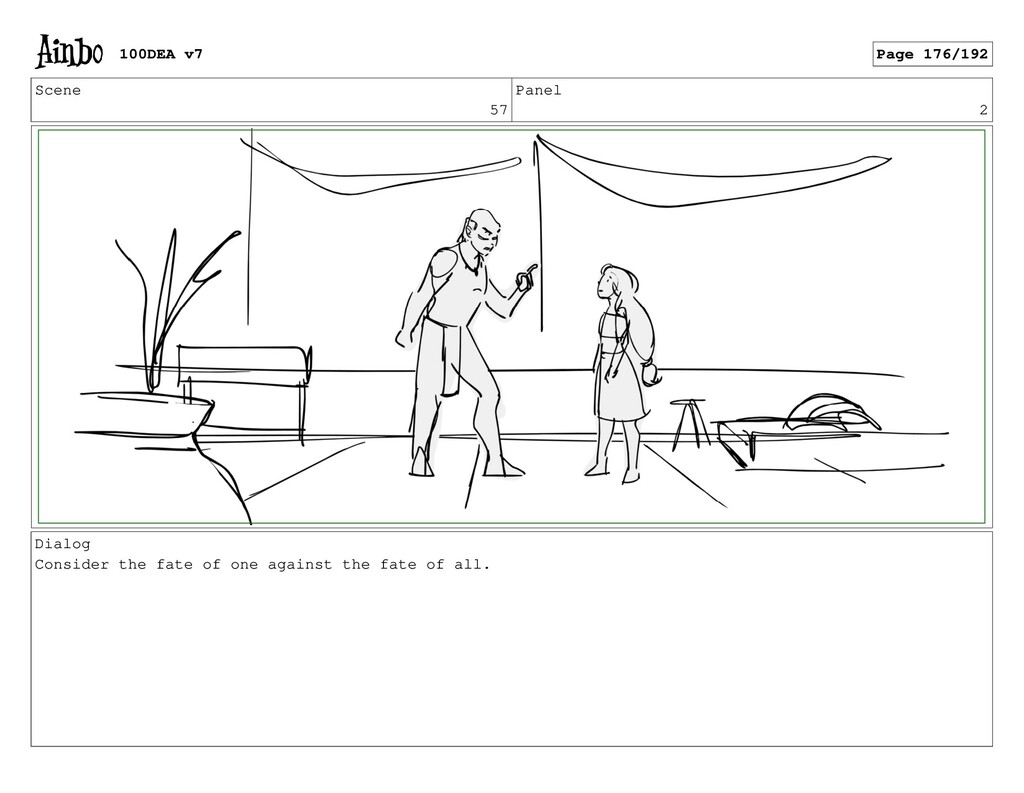 Scene 57 Panel 2 Dialog Consider the fate of on...