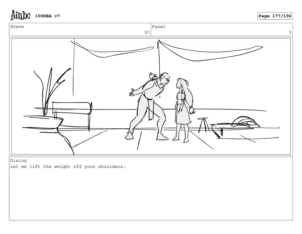Scene 57 Panel 3 Dialog Let me lift the weight ...