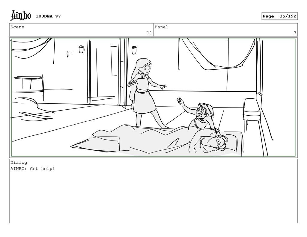 Scene 11 Panel 3 Dialog AINBO: Get help! 100DEA...
