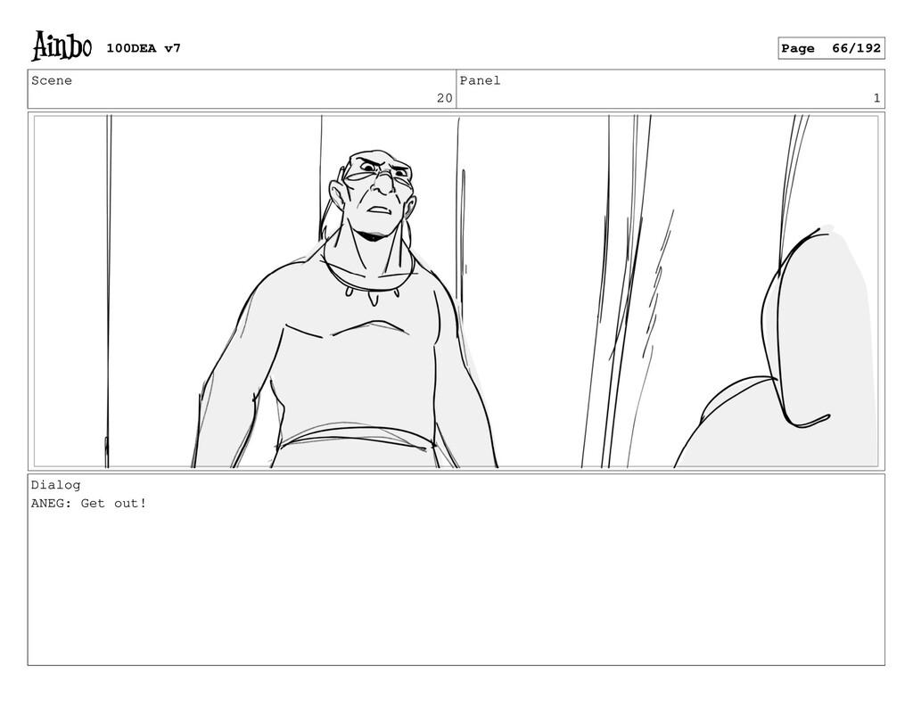 Scene 20 Panel 1 Dialog ANEG: Get out! 100DEA v...