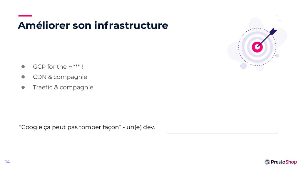 Améliorer son infrastructure ● GCP for the H***...