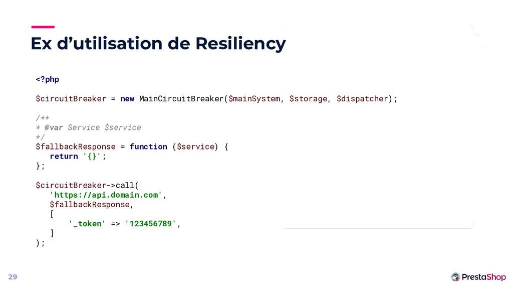 Ex d'utilisation de Resiliency 29 <?php $circui...