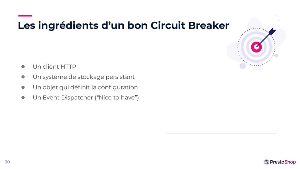 Les ingrédients d'un bon Circuit Breaker ● Un c...