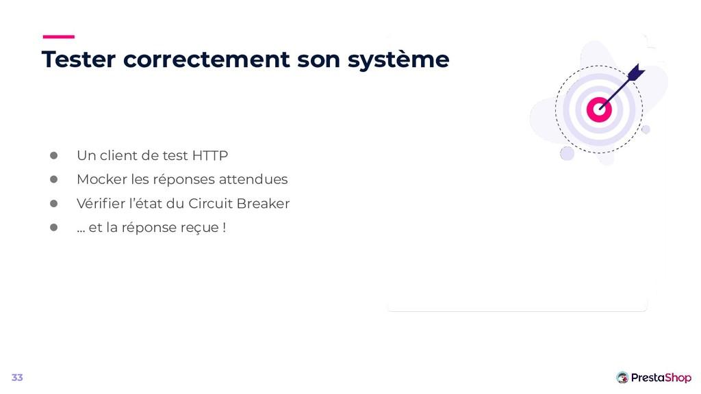 Tester correctement son système ● Un client de ...