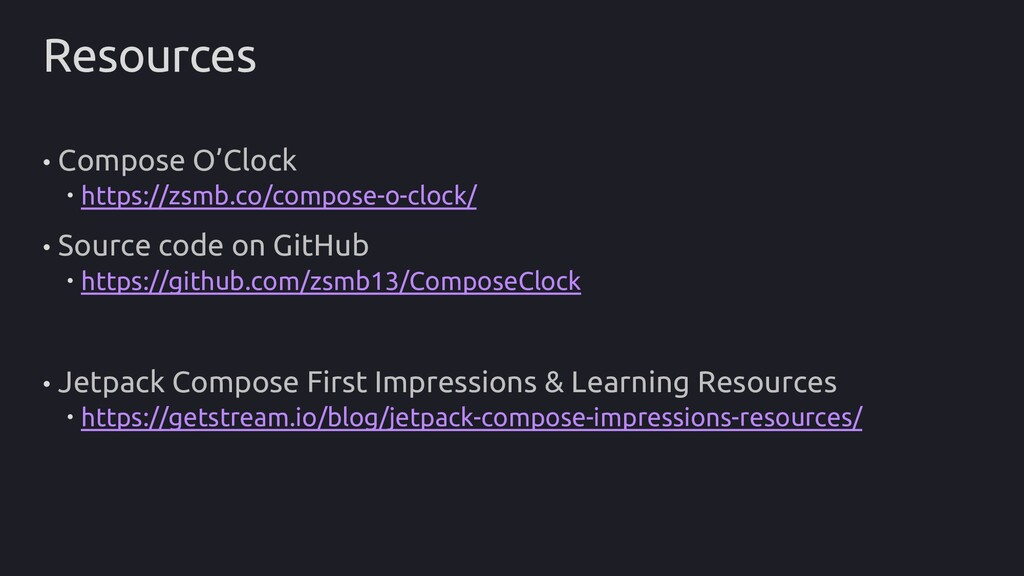 Resources • Compose O'Clock  https://zsmb.co/c...