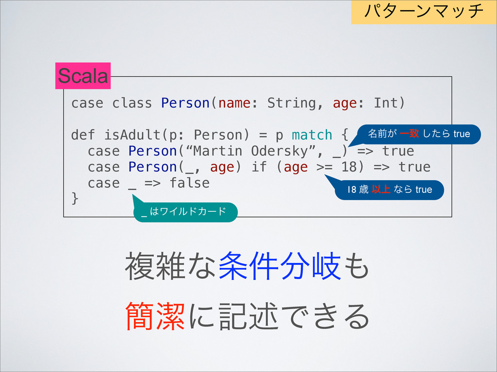 case class Person(name: String, age: Int) def i...