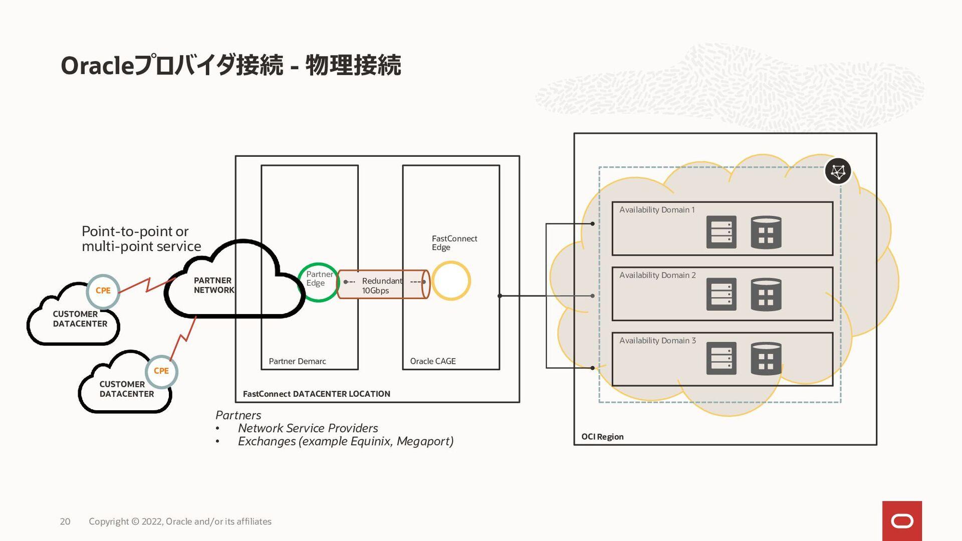 コロケーション – 物理接続 20 Customer Cage FastConnect DAT...