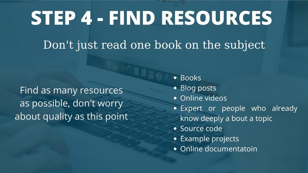 Books Blog posts Online videos Expert or people...