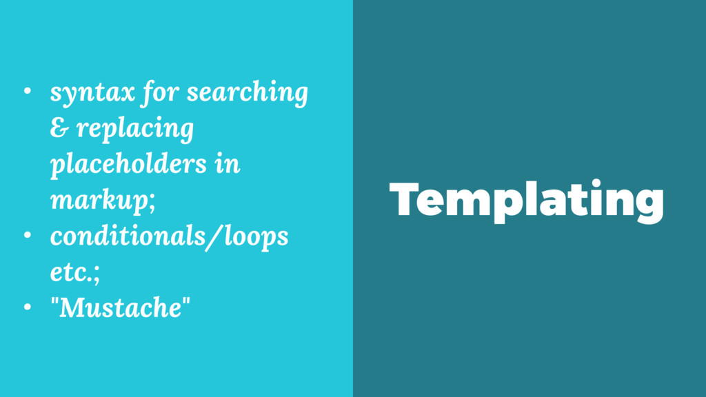 Templating • syntax for searching & replacing p...