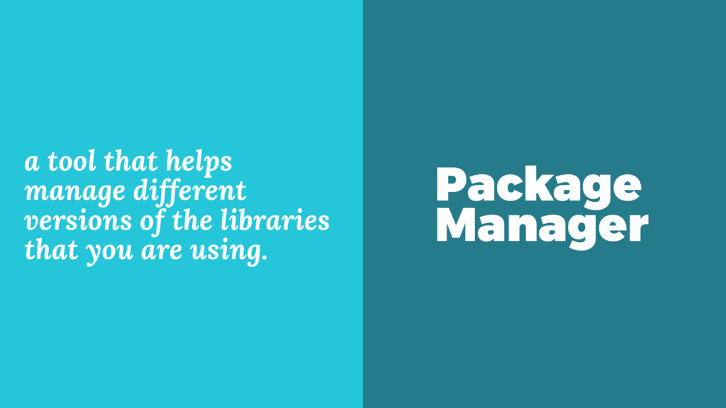 Package Manager a tool that helps manage differ...
