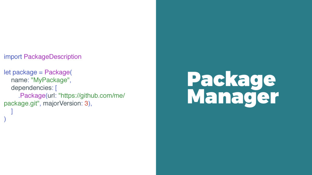 import PackageDescription let package = Package...