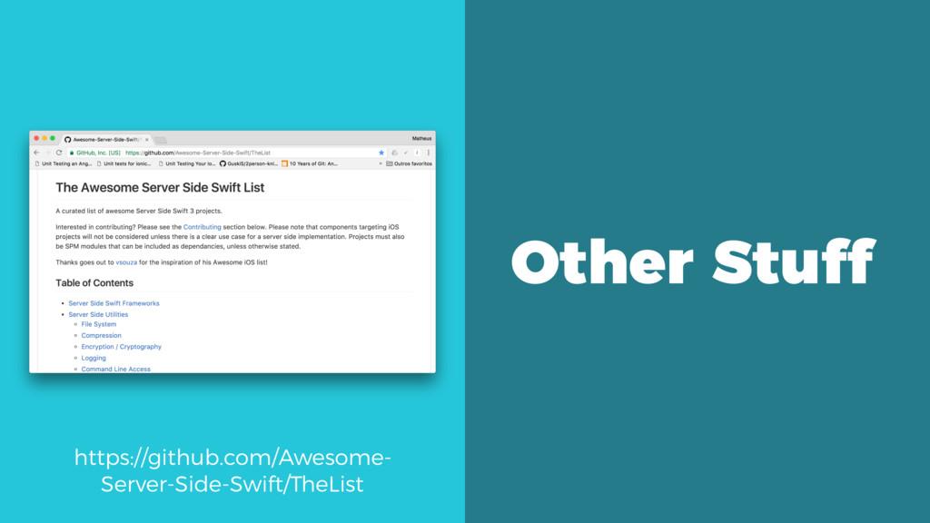 https://github.com/Awesome- Server-Side-Swift/T...