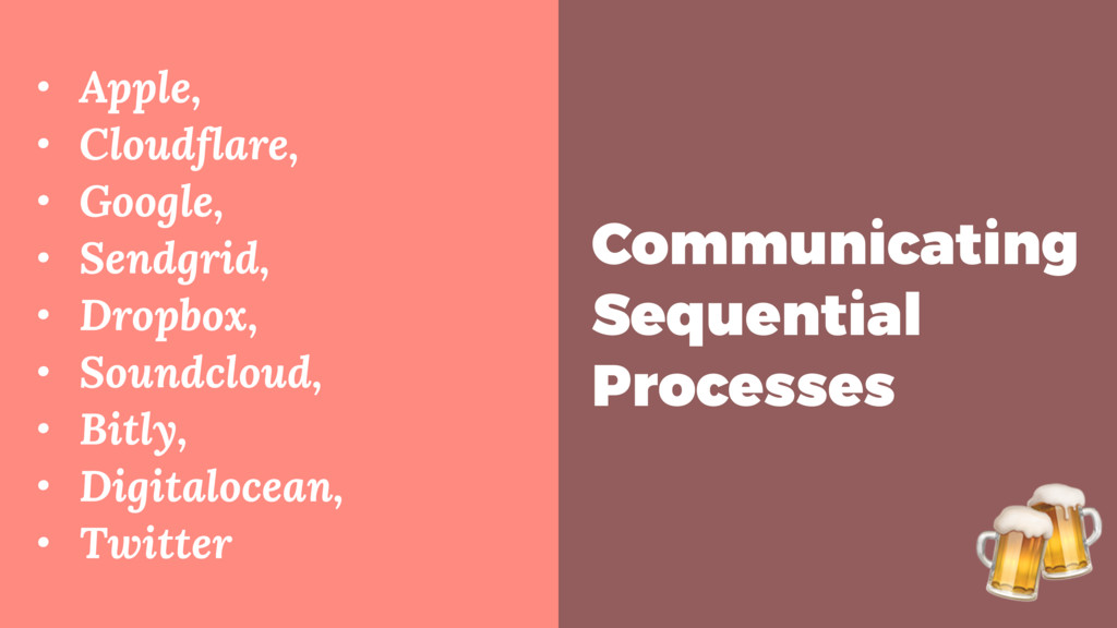 Communicating Sequential Processes • Apple, • C...