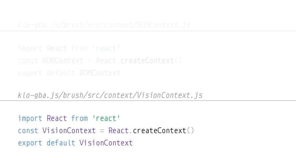 import React from 'react' const ROMContext = Re...