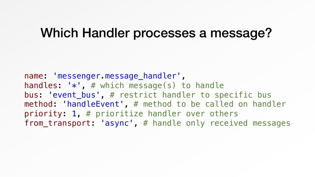 Which Handler processes a message? name: 'messe...