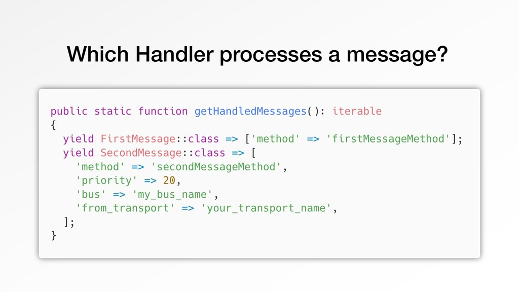 Which Handler processes a message?
