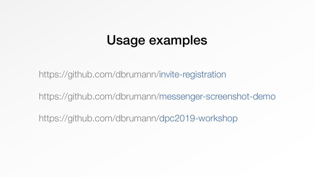 Usage examples https://github.com/dbrumann/invi...