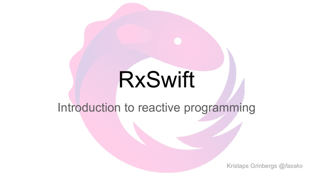 RxSwift Introduction to reactive programming Kr...