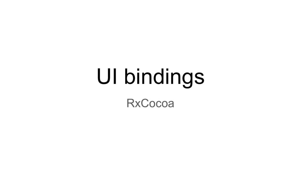 UI bindings RxCocoa