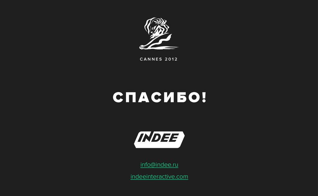 C A N N E S 2 0 1 2 info@indee.ru indeeinteract...