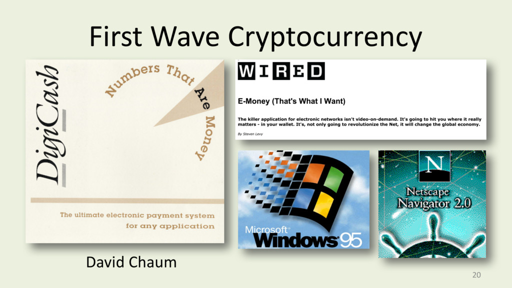 First Wave Cryptocurrency 20 David Chaum
