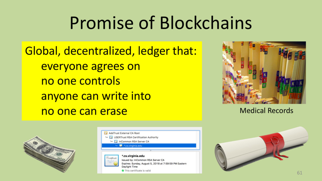Promise of Blockchains 61 Medical Records Globa...