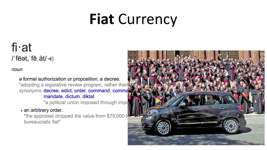 Fiat Currency 8