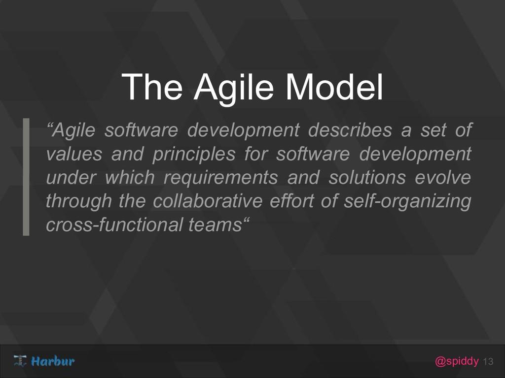 "@spiddy The Agile Model 13 ""Agile software deve..."