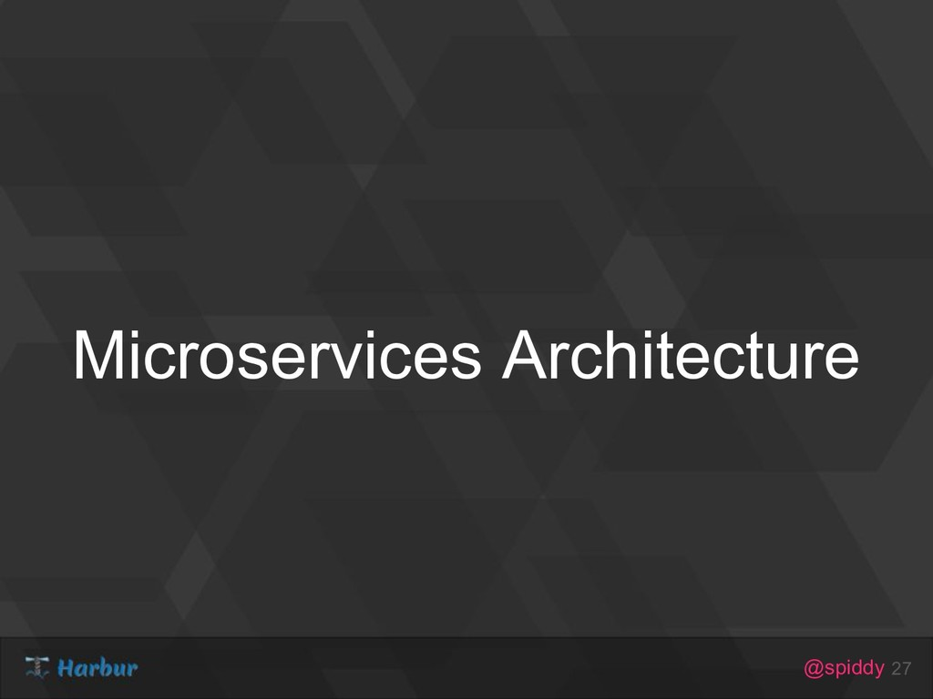 @spiddy Microservices Architecture 27
