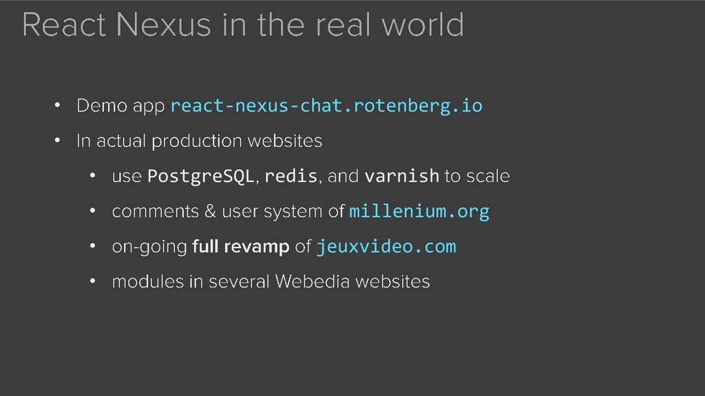 • react-nexus-chat.rotenberg.io • • PostgreSQL ...