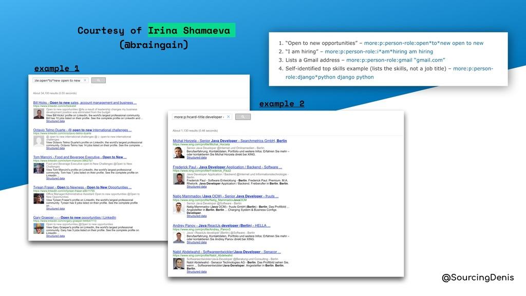 @SourcingDenis example 1 example 2 Courtesy of ...