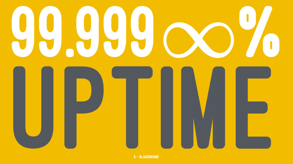 99.999 % UPTIME 5 — @jasonhand
