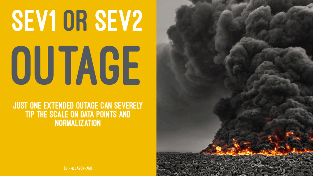 SEV1 OR SEV2 OUTAGE Just one extended outage ca...