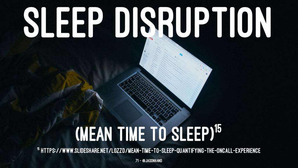 SLEEP DISRUPTION (MEAN TIME TO SLEEP)15 15 http...