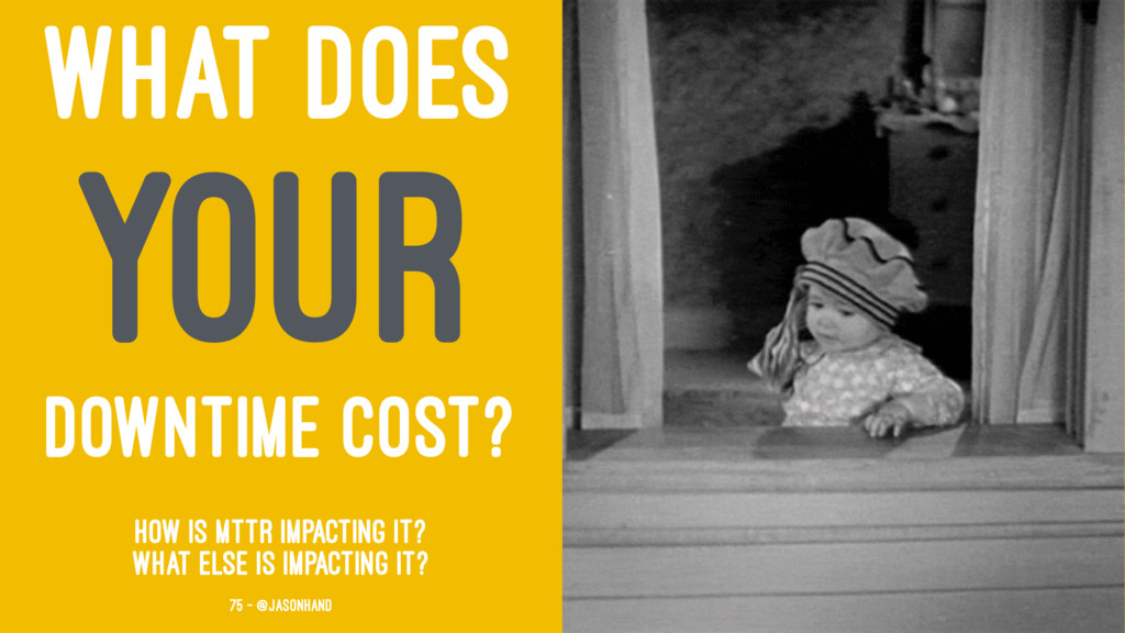 WHAT DOES YOUR DOWNTIME COST? How is MTTR impac...
