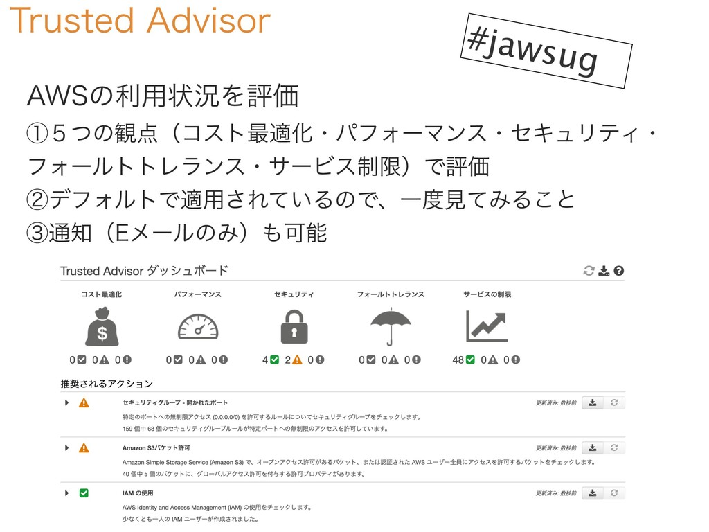 "#jawsug 5SVTUFE""EWJTPS ""84ͷར༻ঢ়گΛධՁ ᶃ̑ͭͷ؍ʢίετ..."