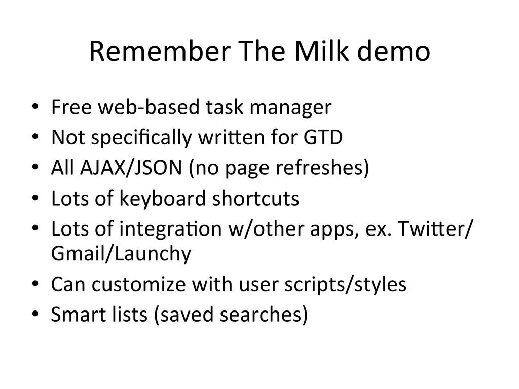 Remember The Milk demo  • Free ...