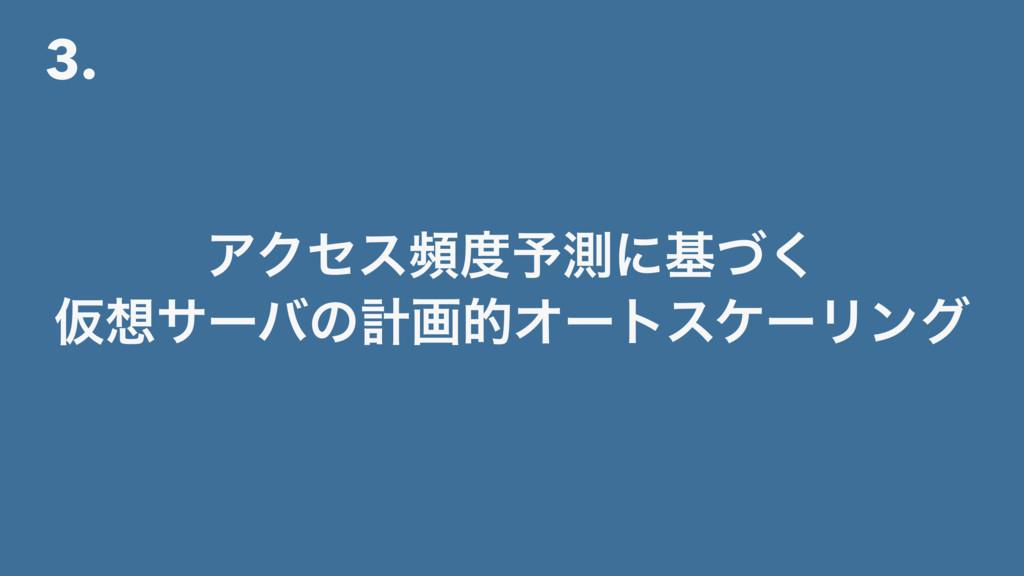 3. ΞΫηεස༧ଌʹجͮ͘ ԾαʔόͷܭըతΦʔτεέʔϦϯά