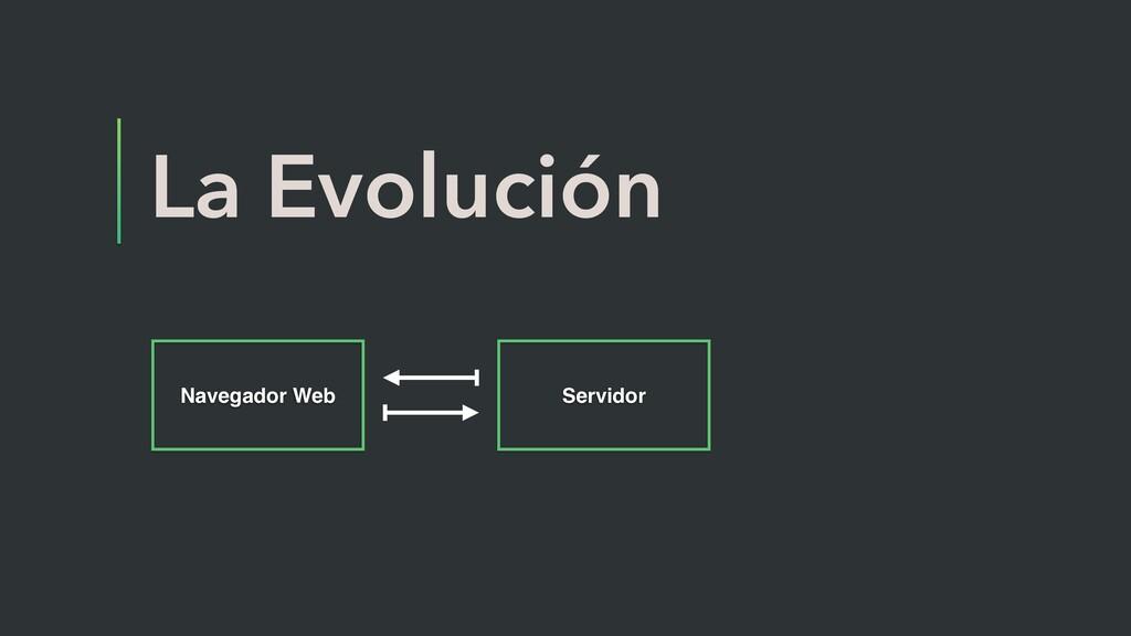 La Evolución Navegador Web Servidor
